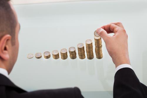 ułożone monety